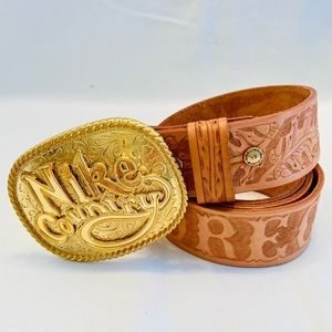 NIKE Sportswear Country hand-tooled Belt, Large